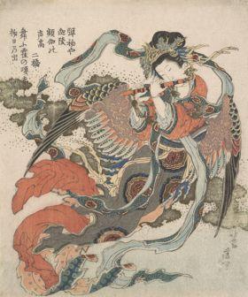 Mistyczny ptak - Katsushika Hokusai - reprodukcja