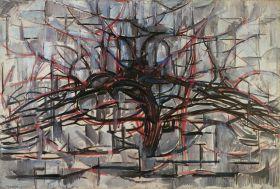 Szare drzewo - Piet Mondrian - reprodukcja
