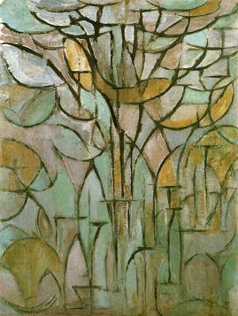 Drzewa - Piet Mondrian – reprodukcja