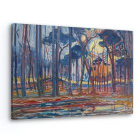 Krajobraz leśny w olejach - Piet Mondrian - reprodukcja