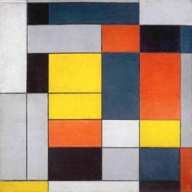 Nr. VI / Kompozycja nr II - Piet Mondrian - reprodukcja