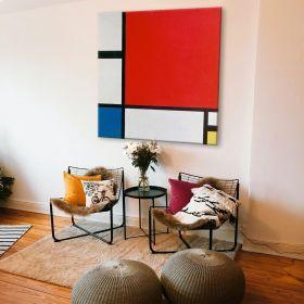 Kompozycja II w kolorze czerwonym, niebieskim i żółtym - Piet Mondrian - reprodukcja