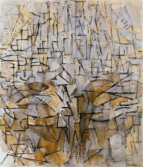 Kompozycja abstrakcyjna nr 3 - Piet Mondrian - reprodukcja