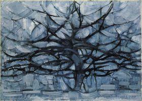 Szare drzewo II - Piet Mondrian - reprodukcja