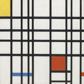 Kompozycja z żółto-niebieskim i czerwonym - Piet Mondrian - reprodukcja