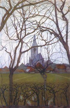 Kościół wiejski - Piet Mondrian - reprodukcja