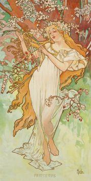 Alfons Mucha – Cztery Pory Roku, Wiosna