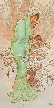 Cztery Pory Roku, Zima - Alfons Mucha