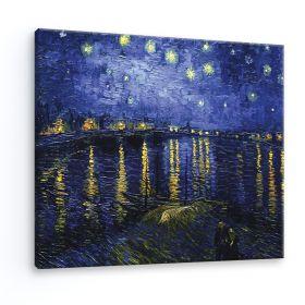 Gwieździsta noc nad Rodanem Vincent Van Gogh - reprodukcja