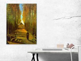 Aleja Poplar jesienią Vincent Van Gogh - reprodukcja