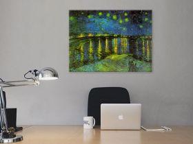 Gwiaździsta noc nad Rodanem - Vincent Van Gogh
