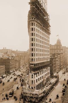 Budowa Flatiron w Nowym Jorku