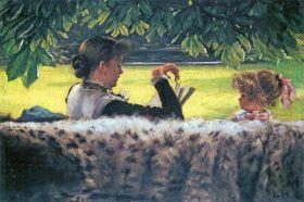 James Tissot  - A story read