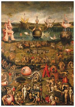 Hieronim Bosch - Ogród rozkoszy ziemskich. Kartka premium