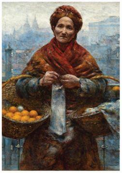 Kartka premium - Aleksander Gierymski - Pomarańczarka