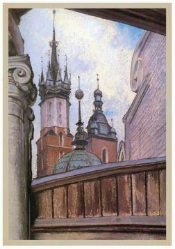 Kartka premium - Stanisław Wyspiański - Wieże Kościoła Mariackiego