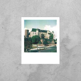 Kartka polaroid - Autobus pod Wawelem