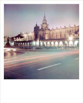Kartka Polaroid - Sukiennice nocą