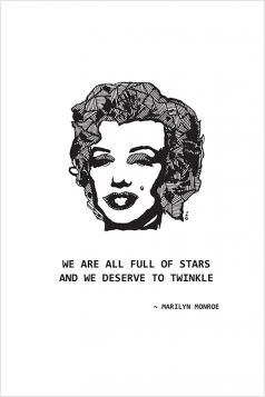 Kartka - Marilyn Monroe
