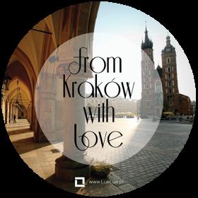 Naklejka - From Kraków with love