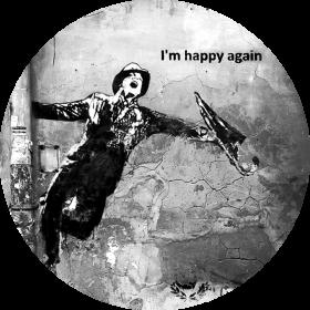 Naklejka - I'm happy again