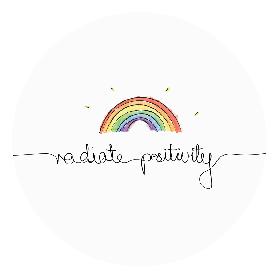 Naklejka - Radiate Positivity