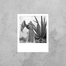 Kartka Polaroid - Frida Kahlo przy agawie