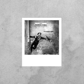 Kartka Polaroid - Mural Happy Again
