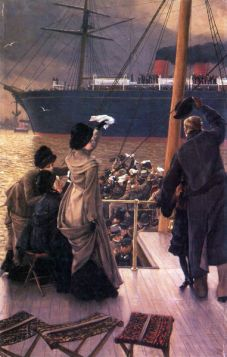 James Tissot  - Farewell to the Mersey