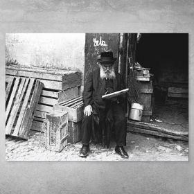 Plakat - Żyd Czytający Gazetę