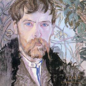 Autoportret w serdaku - Stanisław Wyspiański - magnes