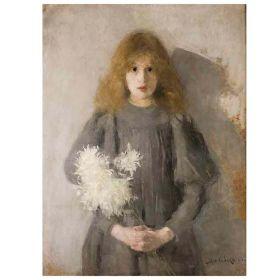Dziewczynka z Chryzantemami - Olga Boznańska - magnes