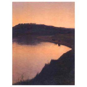 Jezioro o zachodzie słońca - Aleksander Gierymski - magnes