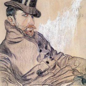 Portret Kazimierza Lewandowskiego - Stanisław Wyspiański - magnes