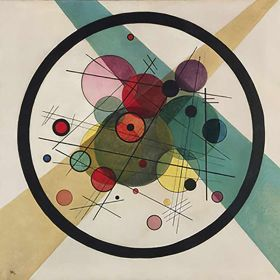 Circles In A Circle - Wassily Kandinsky - magnes