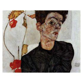 Autoportret z chińską garliczką –  Egon Schele - magnes
