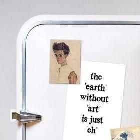 Autoportret z podartą koszulą –  Egon Schele - magnes