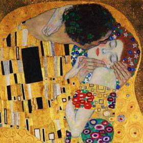 Pocałunek, detal - Gustav Klimt - magnes