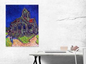 Kościół w Auvers Vincent Van Gogh - reprodukcja obrazu