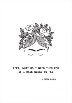 Frida Kahlo - Wings - poster