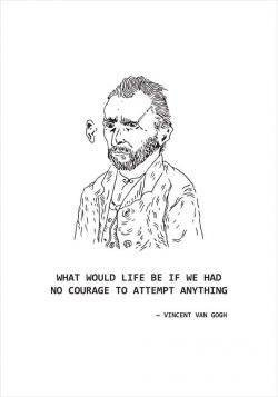 What would life be - Van Gogh -  poster
