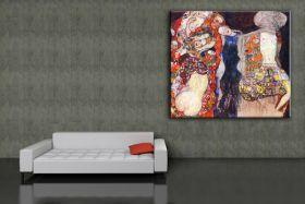 Panna młoda ozdobiona wieńcem i welonem - Gustav Klimt - reprodukcja