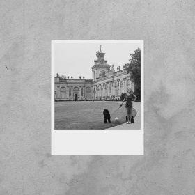 Kartka Polaroid - Wilanów - Panna z pudlem