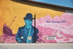 Kartka pocztowa - Street Art: Joseph Conrad