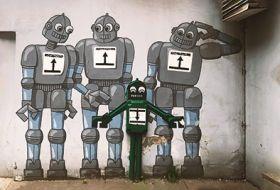 Kartka pocztowa - Street Art: Roboty