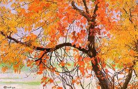 Liście jesienne - Edward Okuń reprodukcja obrazu