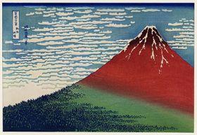 Dobry wiatr, bezchmurny poranek - Katsushika Hokusai -  reprodukcja