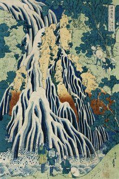 Shimotsuke Kurokami-Yama Kurifuri no Taki - Katsushika Hokusai -  reprodukcja