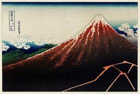 Sanka Hakuu - Katsushika Hokusai - reprodukcja