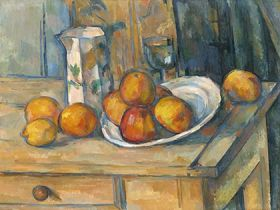 Paul Cézanne - Still Life with Milk Jug and Fruit
